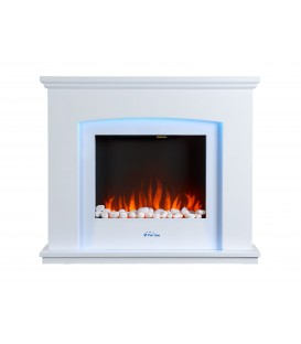 Electric floor fireplace with traditional design made of MDF CHE-600